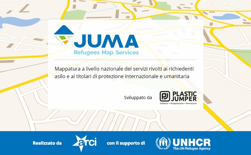 juma refugees map service