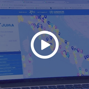 JUMA Refugees Map Services sul TG3 Lazio